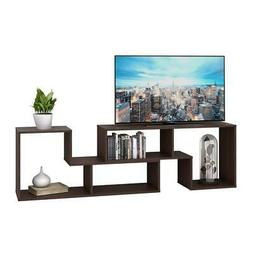 DEVAISE 3-in-1 Versatile TV Stand Bookcase Display Cabinet D