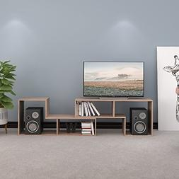 3-in-1 Versatile TV Stand Bookcase Display Cabinet by DEVAIS