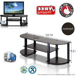 Furinno 11058EX/BK Turn-S-Tube Wide TV Entertainment Center,