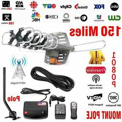 150 Miles Outdoor TV Antenna HDTV UHF/VHF/FM With Stand