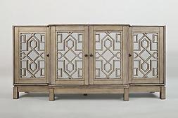 """Jofran 1550-70 70"""" x 18"""" x 34"""" Vintage Silver Casa Bella Mir"""