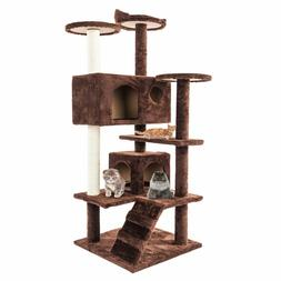 "19""-101"" Cat Tree Tower Condo Furniture Scratching Post Pet"