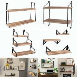 2/3 Tier Storage Shelving Racks Wall Shelf Units Home Living