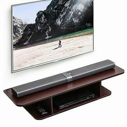 Fitueyes 2-Tier Media Console Floating TV Stand DVD Shelf En