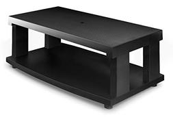 Aleratec 2-Tier LCD LED TV Stand Entertainment Rack