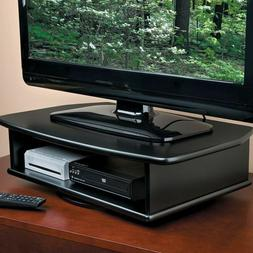2 Tier TV Swivel Stand Turntable Rotates 360 Degrees DVD Med