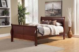 Alpine Furniture 2700Q Louis Philippe Ii Queen Sleigh Bed, C