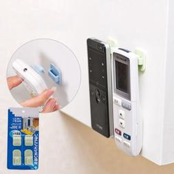 2pc tv remote control hook adhesive organiser