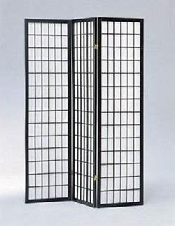 3-panel Shoji Screen Room Divider , Black