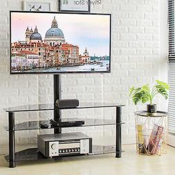 3-in-1 Entertainment Floor Stand with Swivel Mount for 32-65