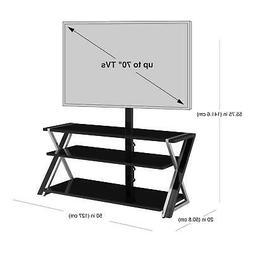 """3-in-1 TV Stand for TVs up to 70"""" with 3 Display Options for"""
