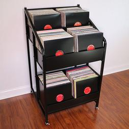 LPBIN3 LP Storage Cabinet with Casters / Bin Style Vinyl Rec