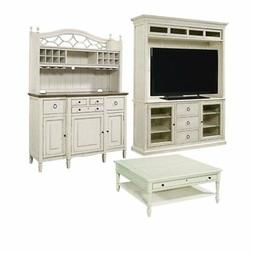 3 Piece Living Room Set with TV Stand with Deck, Buffet with