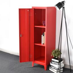 3-Tier Metal Storage Locker Office Filing Cabinet With Lock