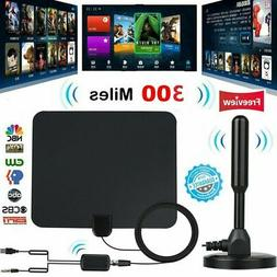 300 Mile Range Antenna TV Digital 1080P HD Skywire 4K Antena