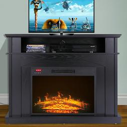 "41"" Large 1500W Room Adjustable Electric Fireplace TV stand"