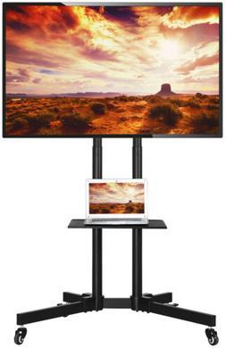 "32-70"" Mobile TV Cart Mount Universal Flat Screen Rolling"