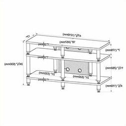 VTI 35000 Series Pro TV Stand in Silver and Black