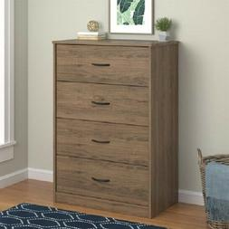 Mainstays 4-Drawer Dresser Multiple Colors Rustic Oak New