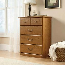 4-Drawer Dresser / TV Stand Wood Furniture w/ Metal Runners
