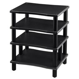 4 Shelf Audio Video TV Media Component Stand Rack Equipment