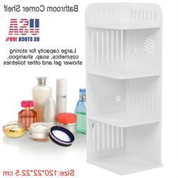 4 Tier Corner Shelf Storage Display Rack Bathroom Home Bookc