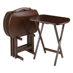 4 TV Dinner Tray Table Dining Stand Kitchen Game Living Room