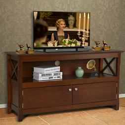 "44"" TV Stand Console Wooden Storage Cabinet Shelf Media Cent"