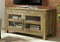 """WE Furniture 44"""" Wood TV Media Stand Storage Console - Barnw"""