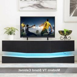 47'' Floating LED TV Stand Wall Mount Console Furniture w/ 3