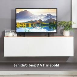 47'' Floating Wood TV Stand Wall-Mount Media Console Furnitu