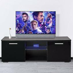 "47"" Modern High Gloss TV Stand Unit+LED Light Console Cabine"