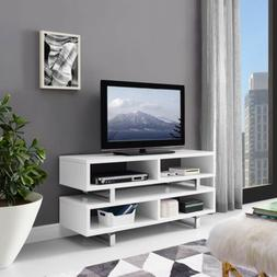 """47"""" Modern Open Design White LED LCD DLP HD TV Stand Credenz"""