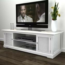 48 in. Modern White Wood Media Center TV Stand Living Room O