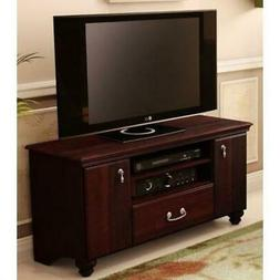 48-inch Eco-Friendly TV Stand in Dark Mahogany