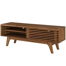 """48"""" Mid Century Modern LED LCD DLP HD TV Stand Credenza Slat"""