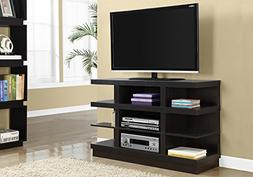 Monarch 48 Nine Shelf TV Stand Cappuccino