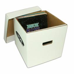 BCW 33 1/3 RPM Vinyl Record Cardboard Storage Boxes Holds A