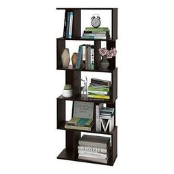"DEVAISE 5-Shelf Bookcase, 62.2"" Open Bookcase Storage Shelve"
