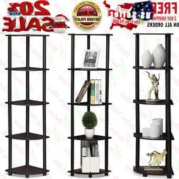 5 Tier Corner Shelf Storage Display Rack Bathroom Home Bookc