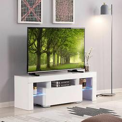 """51"""" High Gloss TV Stand Cabinet Console Unit Furniture with"""