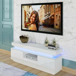 """51"""" High Gloss TV Unit Cabinet Stand with RGB LED Lights She"""