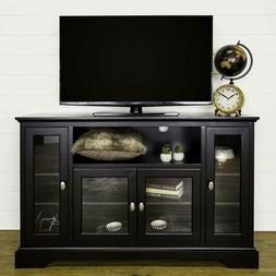 """WE Furniture 52"""" Wood Highboy Style Tall TV Stand New"""