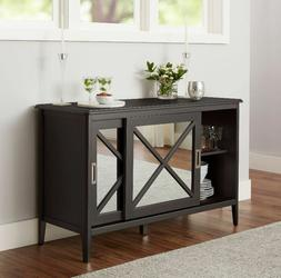 """55 """" TV Credenza Stand Buffet Table Glam Room Decor Mirrored"""