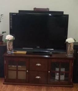 "56"" TV Stand Unit Cabinet Media Console Furniture Shelves, L"