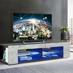 "57"" High Gloss TV Stand Unit Cabinet Modern RC Console Table"