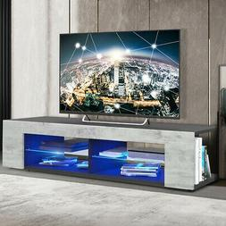 57'' High Gloss TV Stand Unit Cabinet Media Storage Console