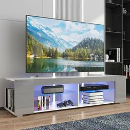 """57"""" High Gloss TV Stand Cabinet with LED Lights Entertainmen"""