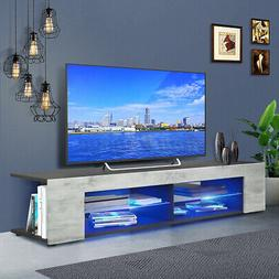 57'' TV Stand Unit Cabinet Console Table w/LED Light Shelves