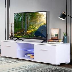 57'' TV Stand Unit Cabinet Modern White Console w/ 2 Drawer
